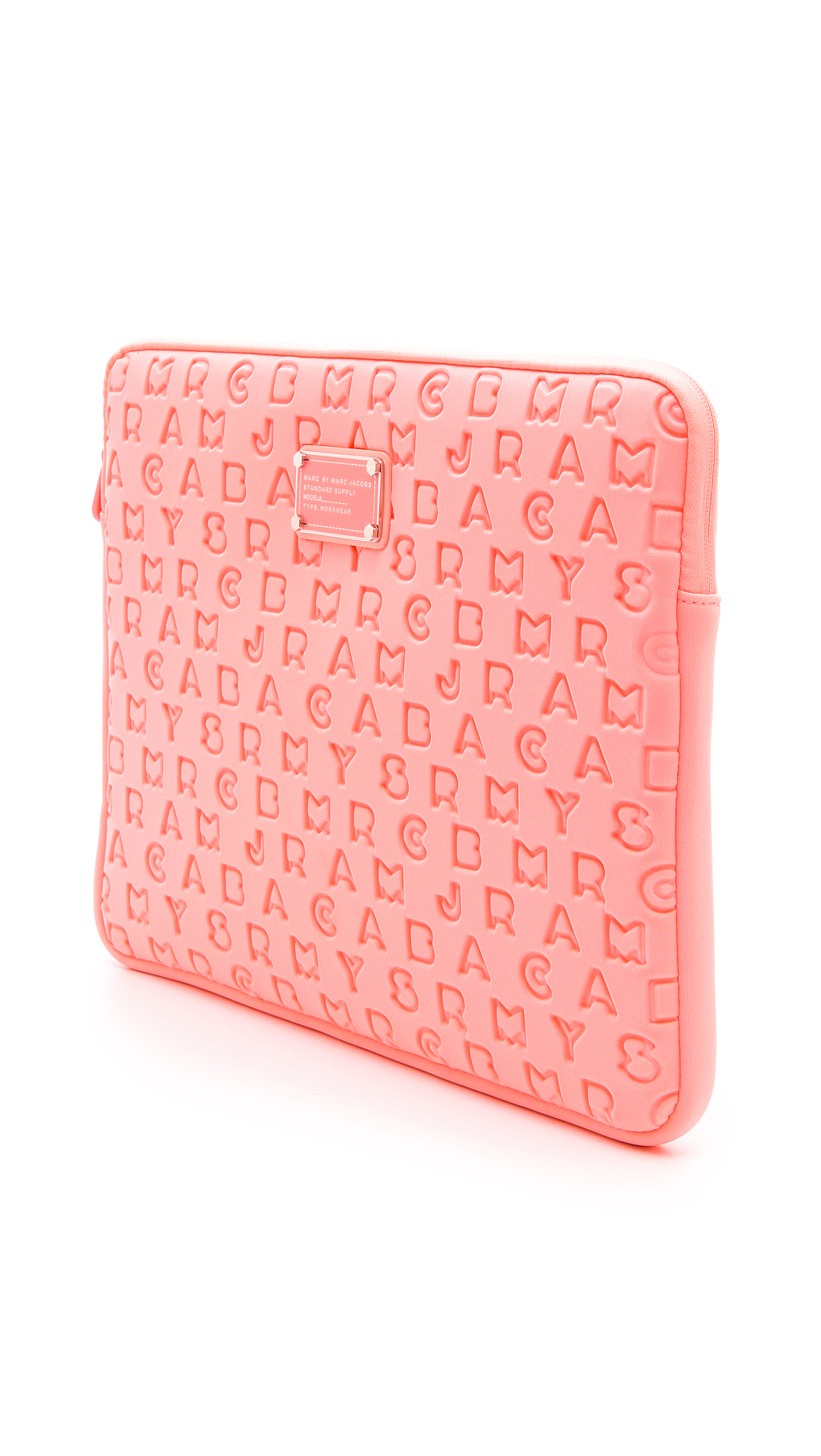 c0479fd6ff Marc By Marc Jacobs Dreamy Logo Neoprene 15 Computer Case in Pink - Lyst