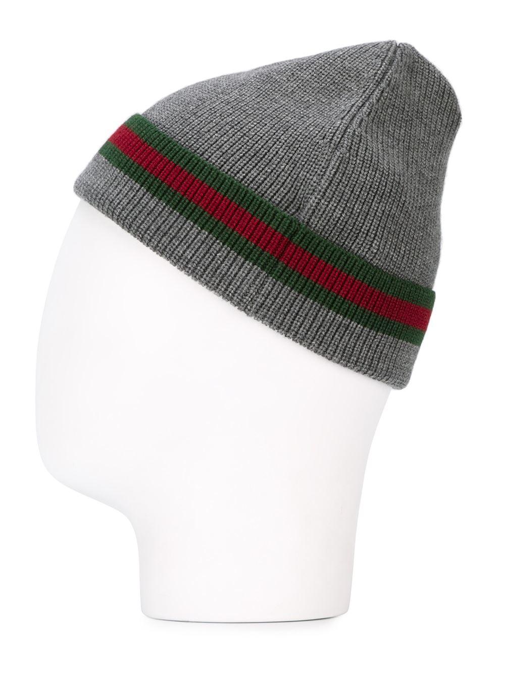 Lyst - Gucci Wool-silk Beanie Hat in Gray for Men 68ea773e5ba