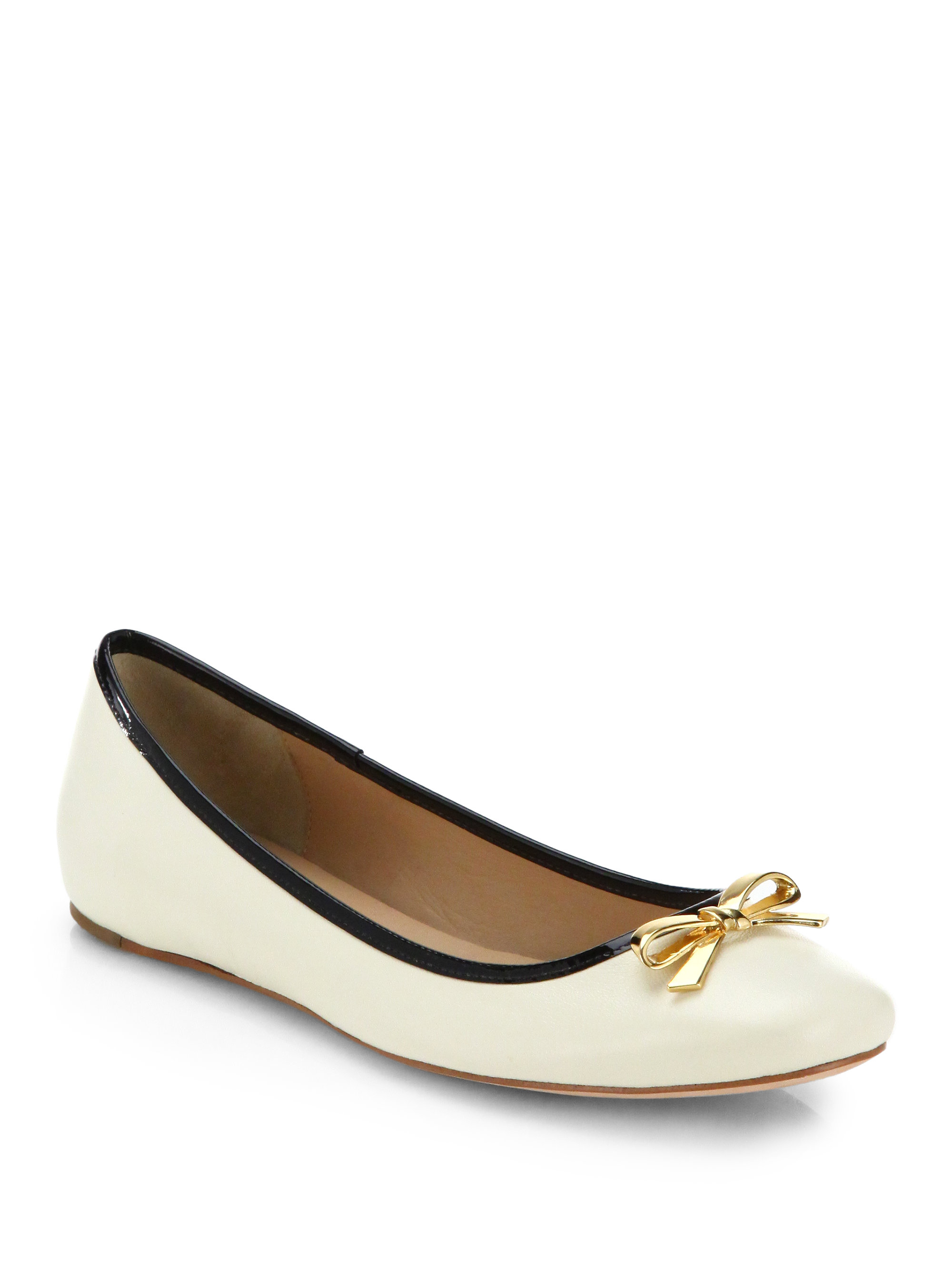 kate spade new york villa ballet flats in white lyst