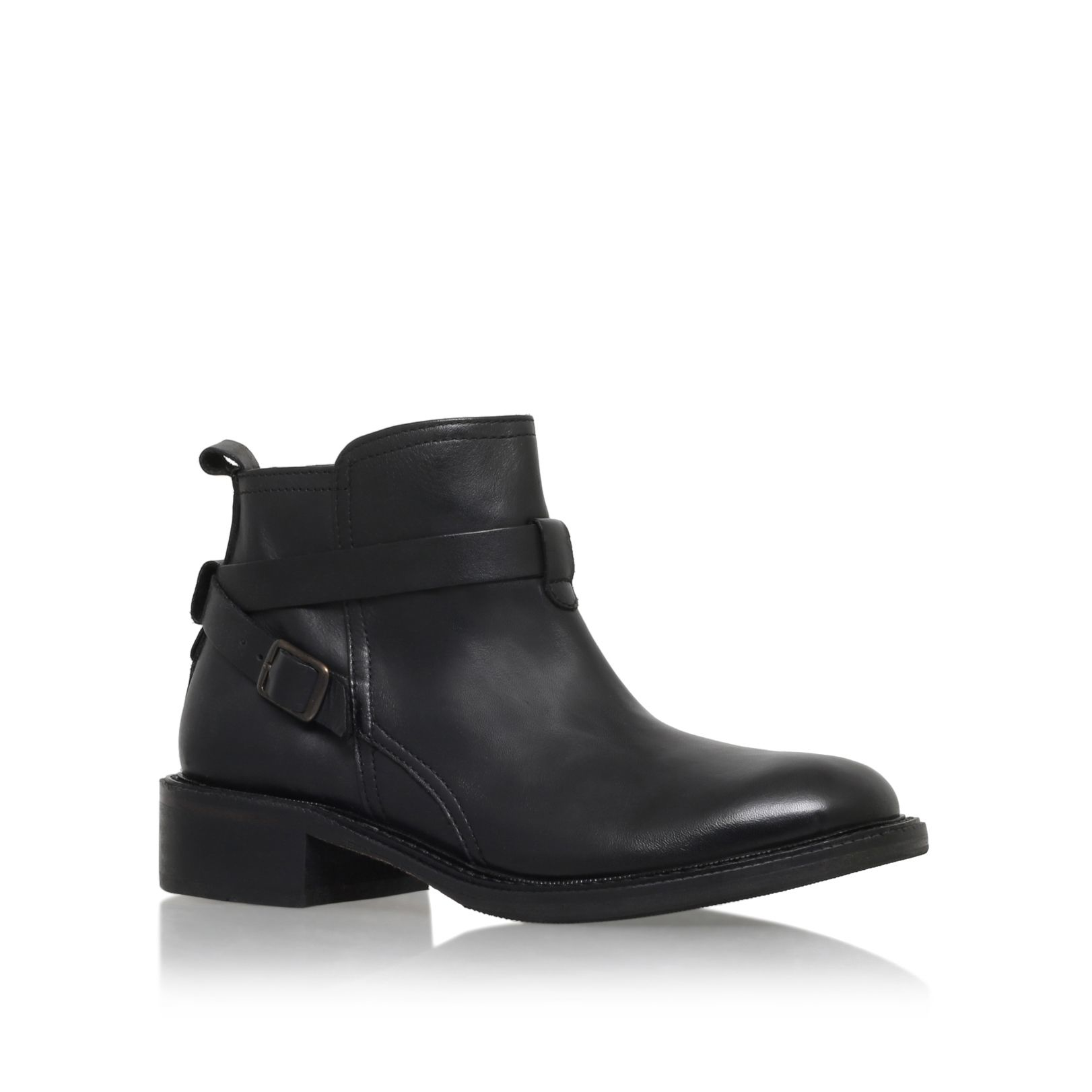 h by hudson sachs low heel ankle boots in black lyst