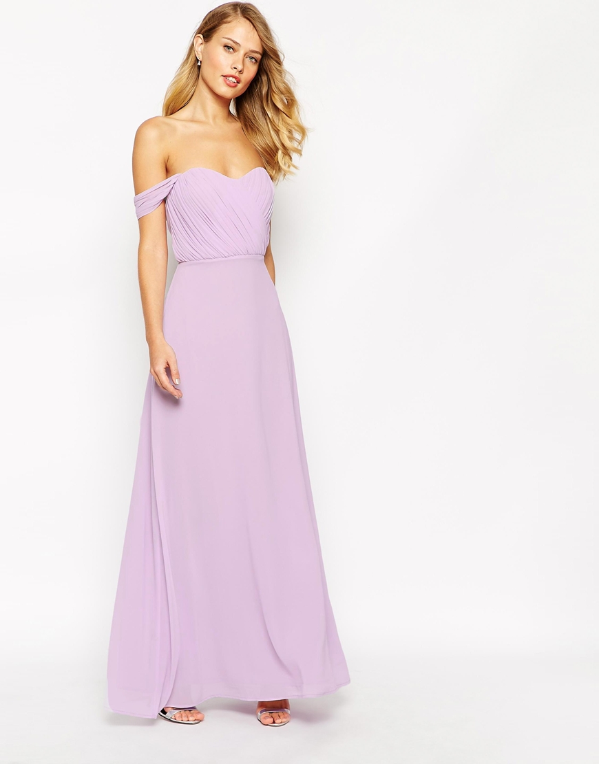 1dccbdb86ef4 Lyst - Jarlo Florance Off Shoulder Maxi Dress in Purple
