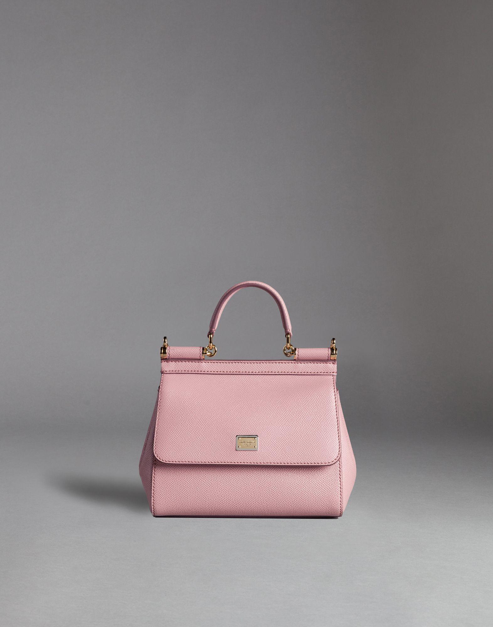 26962873acf7 Lyst - Dolce   Gabbana Sicily Mini Dauphine-Print Shoulder Bag in Pink