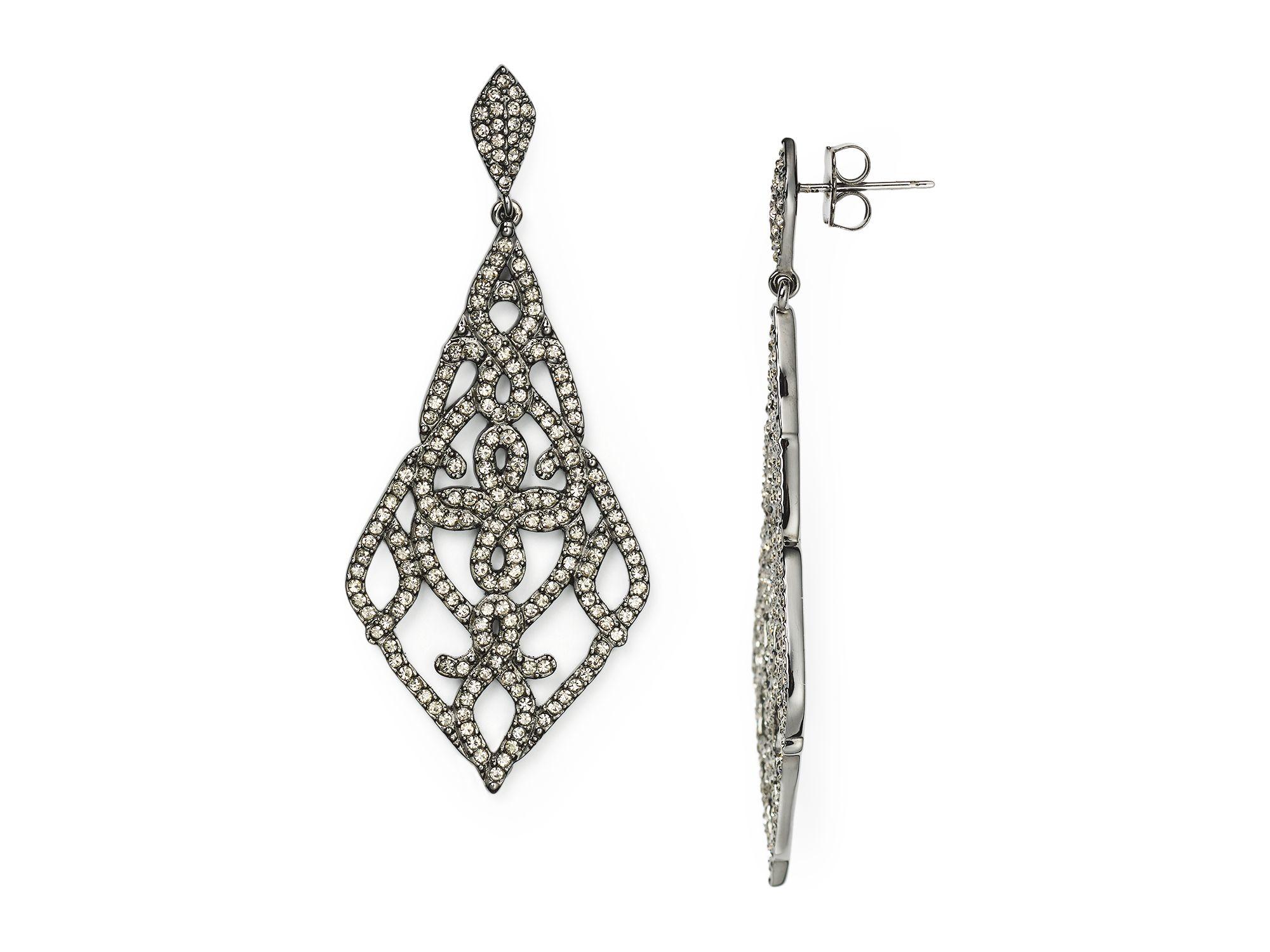 Lyst Nadri Granada Pav 233 Kite Earrings 100