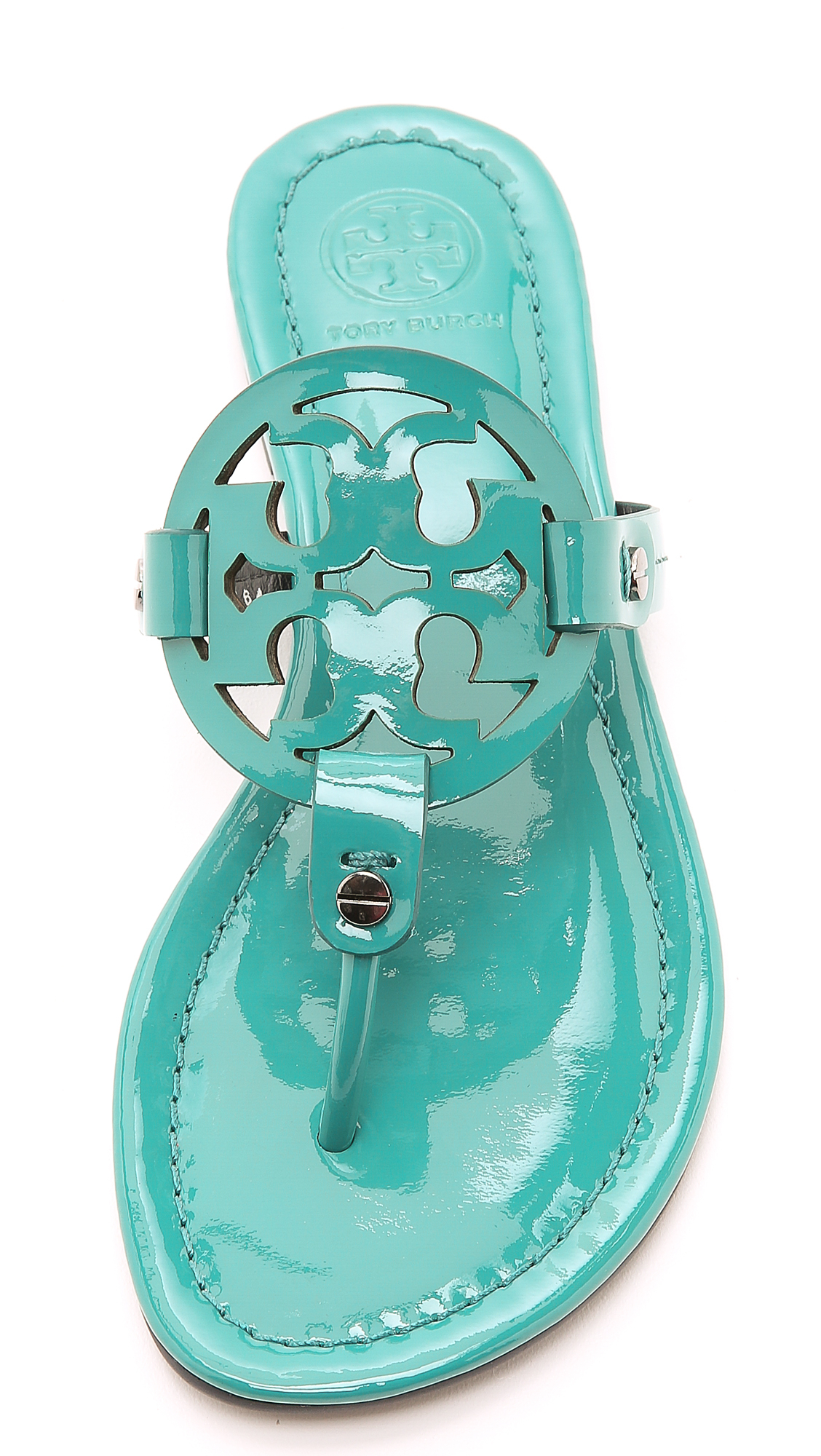 3aa2f4243cf6a Lyst - Tory Burch Miller Thong Sandals - Electric Eel in Green