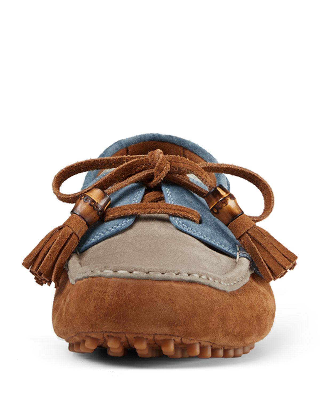 GG canvas boat shoe