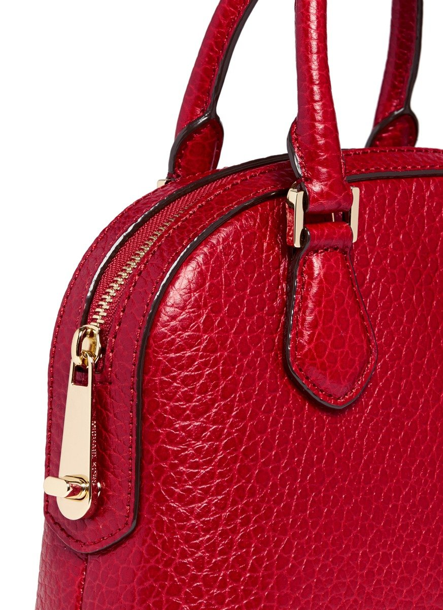 Lyst Michael Kors Smythe Small Pebbled Leather Dome