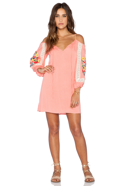 Vava by joy han Lara Open Shoulder Dress in Pink
