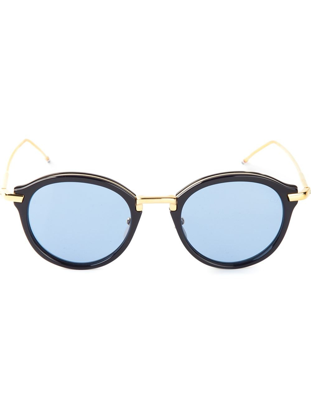Thom browne Round Sunglasses in Gold for Men (blue) Lyst