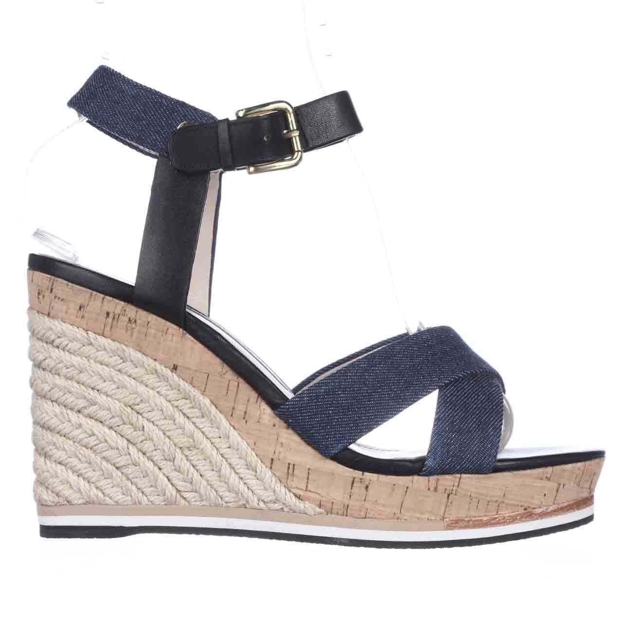 Zappos Blue Wedge Cork Shoes