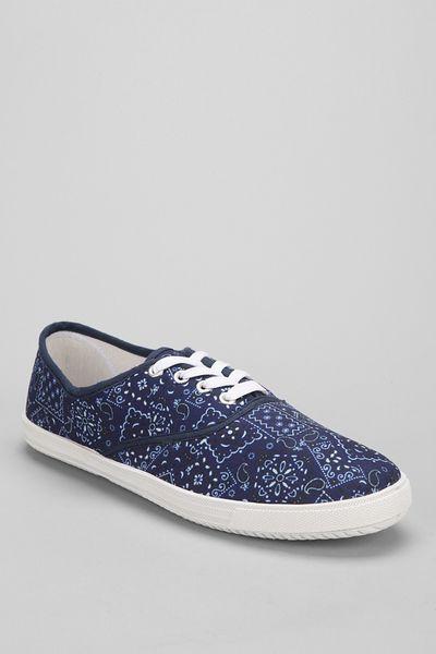 Urban Outfitters Pattern Plimsoll Sneaker in Blue for Men  NAVY Urban Outfitters Pattern