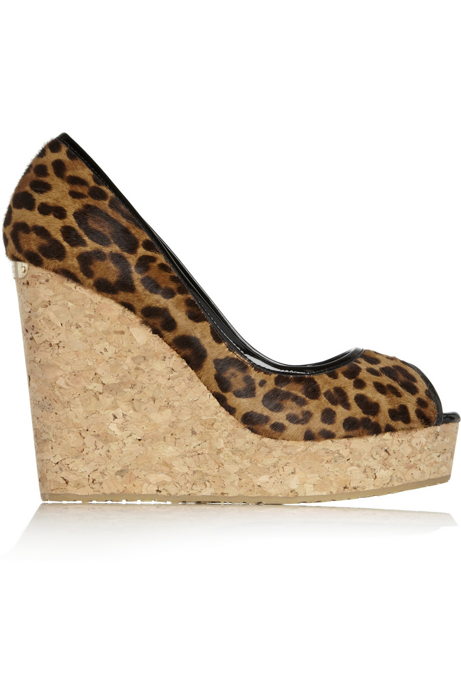 Animal Print Manicure: Jimmy Choo Papina Leopard-Print Calf Hair Wedge Sandals In