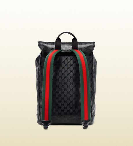 Gucci 500 By Gg Imprime Backpack In Black For Men Lyst