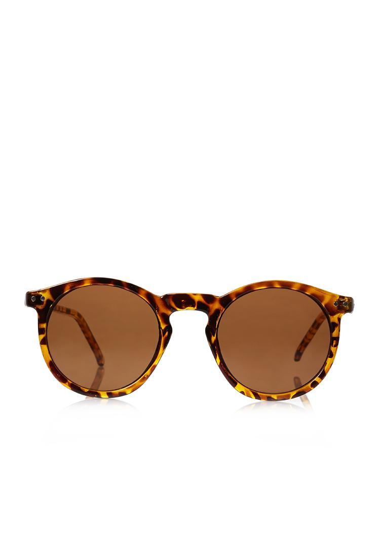Lyst Forever 21 Round Tortoiseshell Sunglasses In Brown