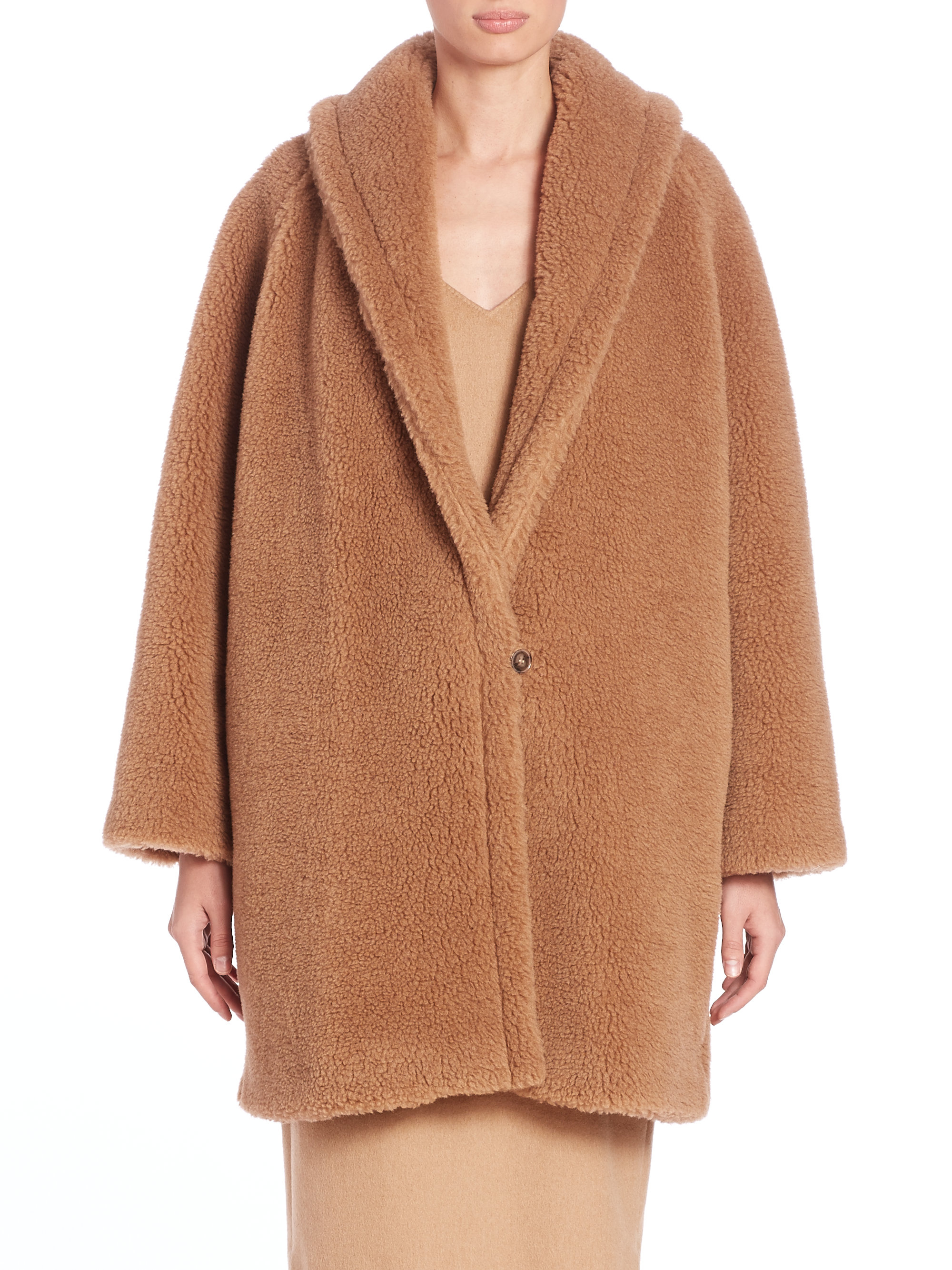 Max mara Armenia Faux Fur Teddy Coat in Brown | Lyst