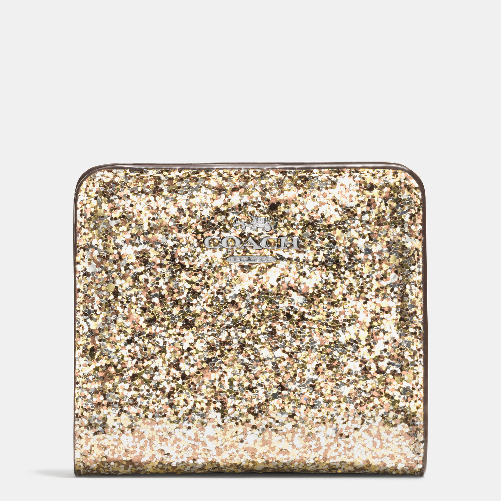 Lyst Coach Small Wallet In Glitter Fabric In Metallic