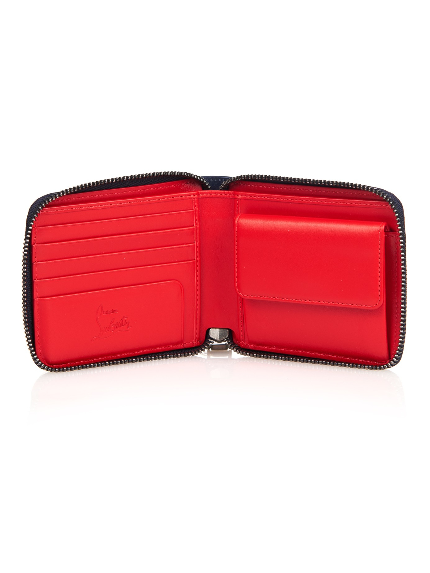 christian louboutin zip around wallet