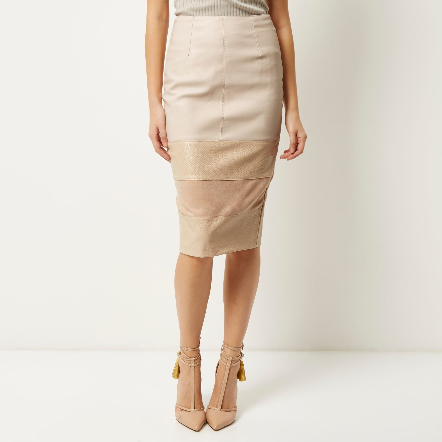 Pink patent leather pencil skirt – Modern skirts blog for you