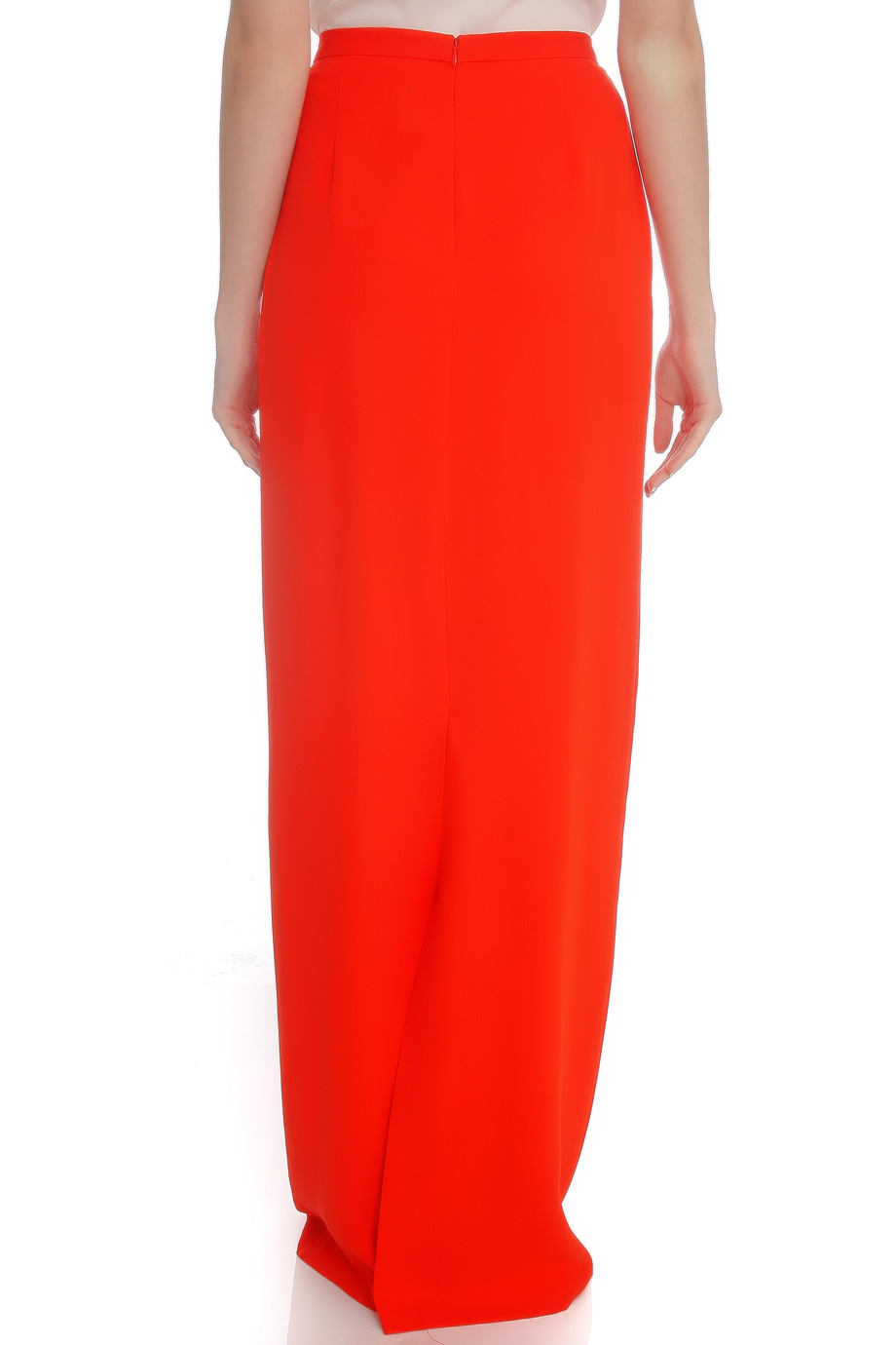 Raoul Silk Maxi Skirt in Red | Lyst