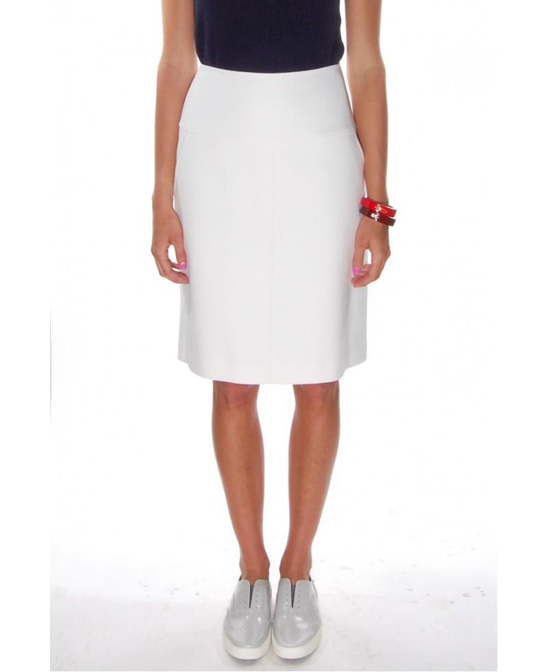 Jil sander navy White Short A-line Skirt in White | Lyst