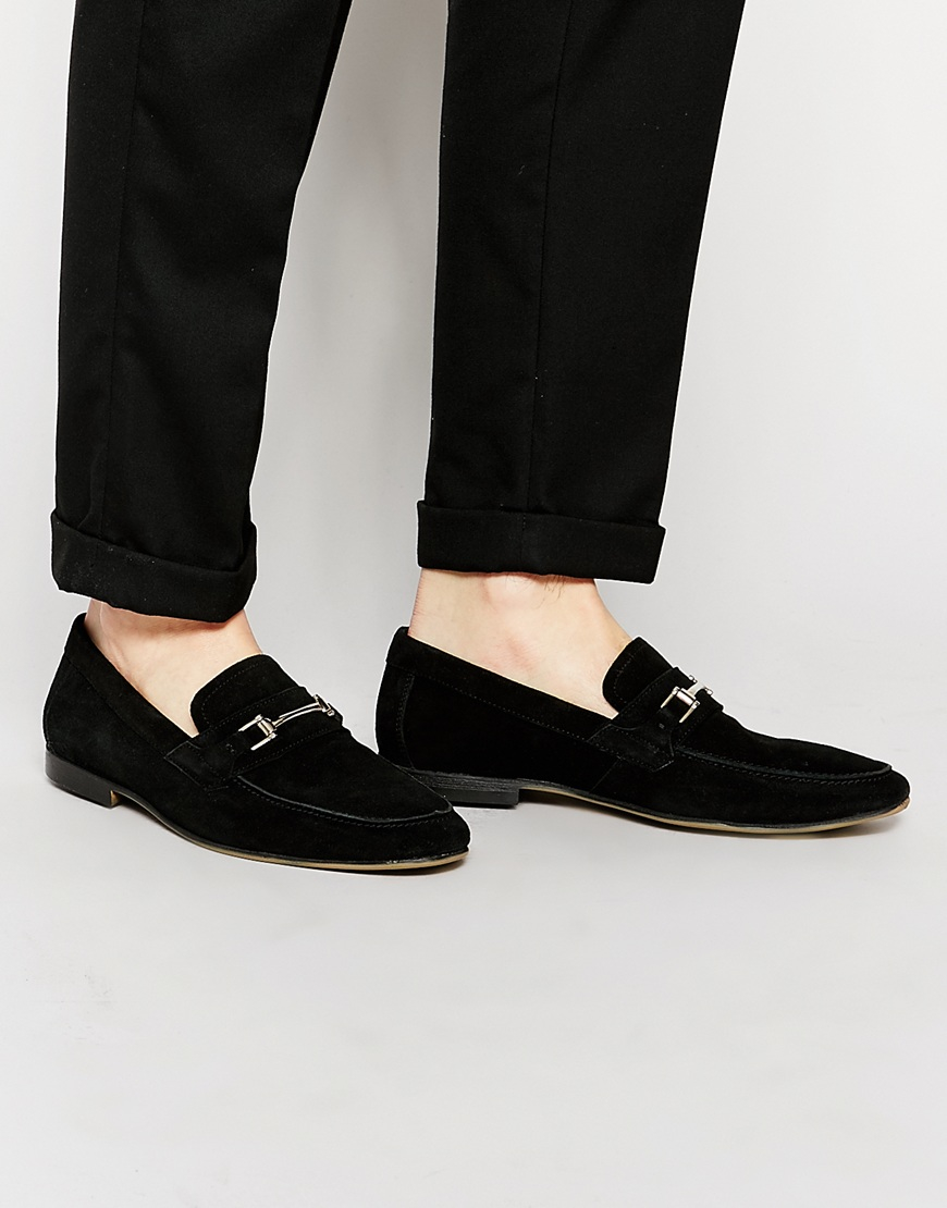 Loafers In Black Leather With White Sole And Snaffle - Black Asos CxtuU