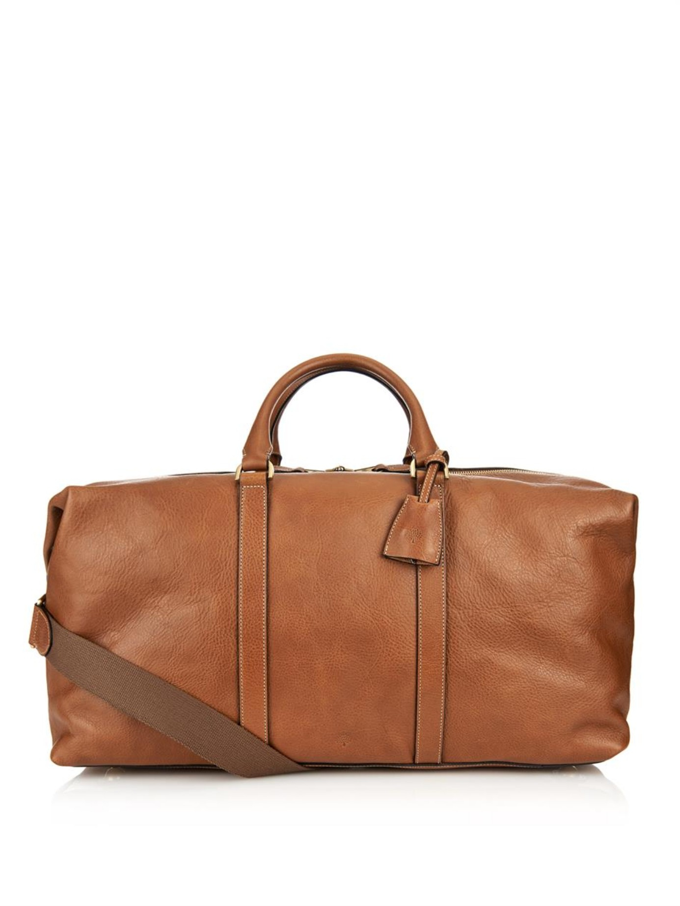 28a64a4f4521 ... uk lyst mulberry clipper leather weekend bag in brown for men aed5a  ed977