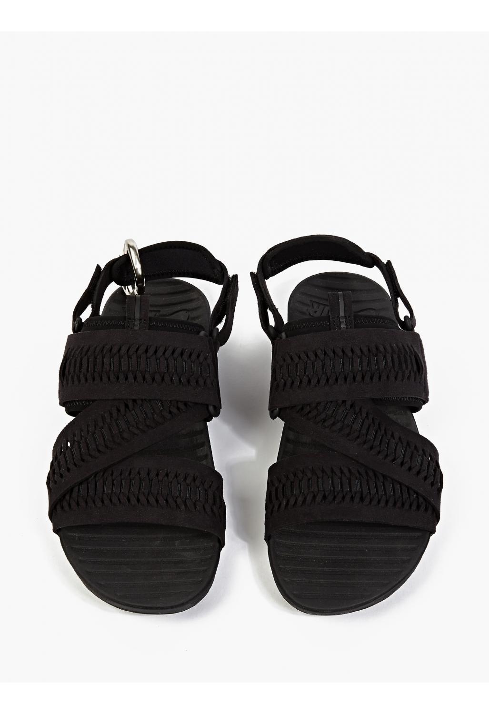 Nike Air Solarsoft Zig Zag Woven Sandals In Black For Men