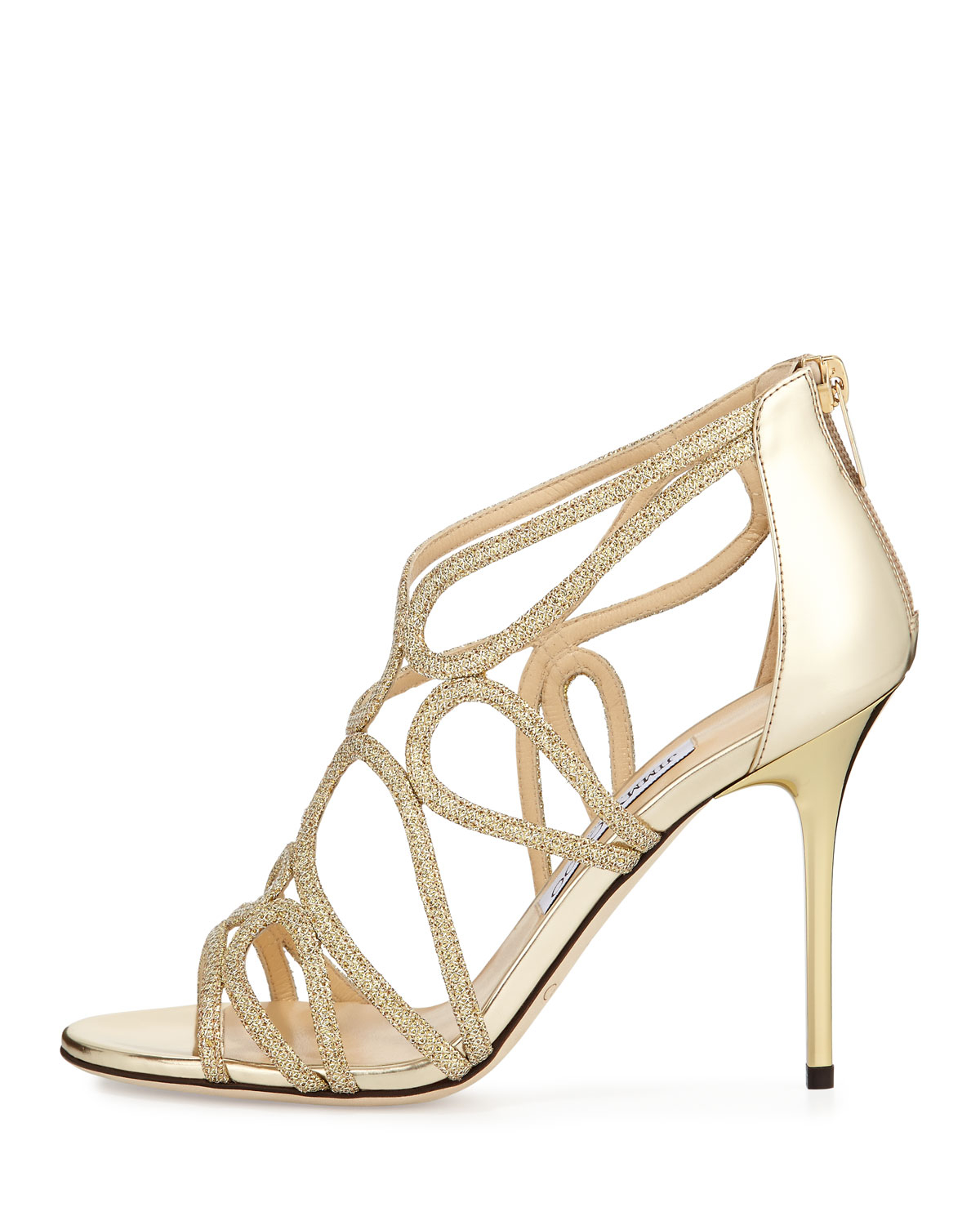 d7fd49e55c7b Lyst - Jimmy Choo Layla Metallic Sandals in Metallic