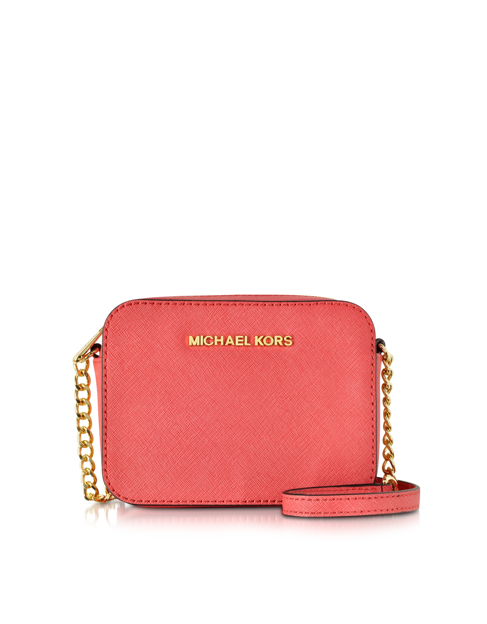 ecc1b0044ed5 ... cheap michael kors jet set travel small saffiano leather crossbody in  pink lyst b6a5c 28442