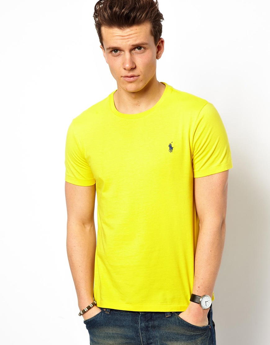 yellow ralph lauren t shirt