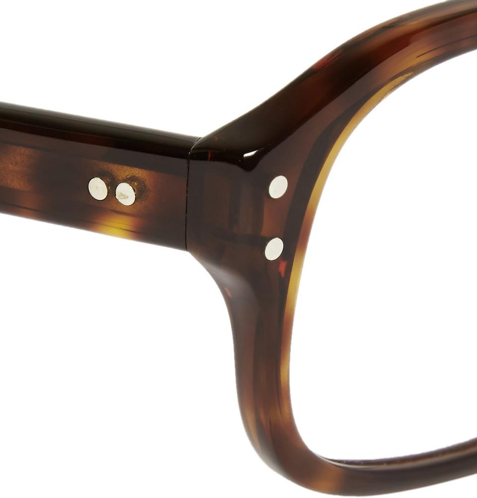 7b30e78bda Lyst - Kingsman Cutler And Gross Tortoiseshell Acetate Square-Frame Optical  Glasses in Brown for Men