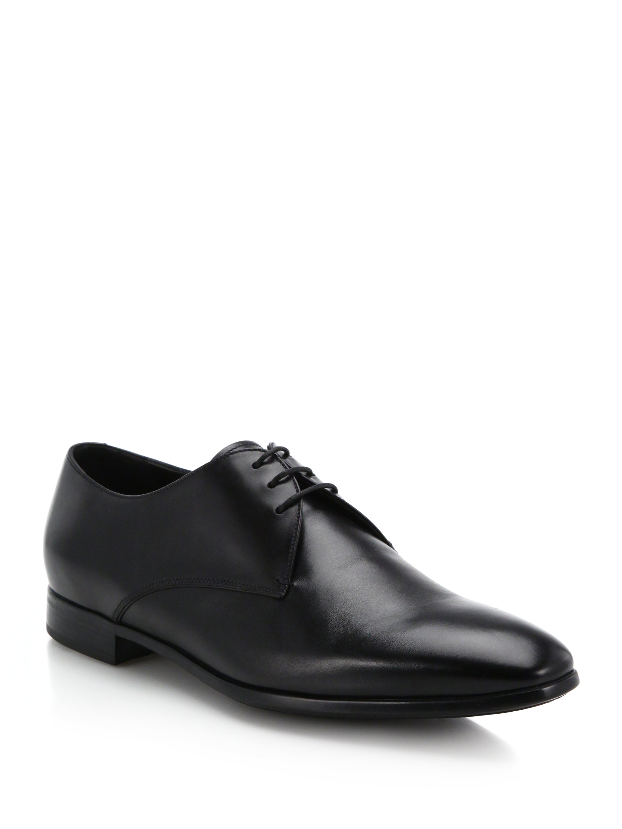 Giorgio armani Lace-Up Leather Dress Shoes in Black for ...