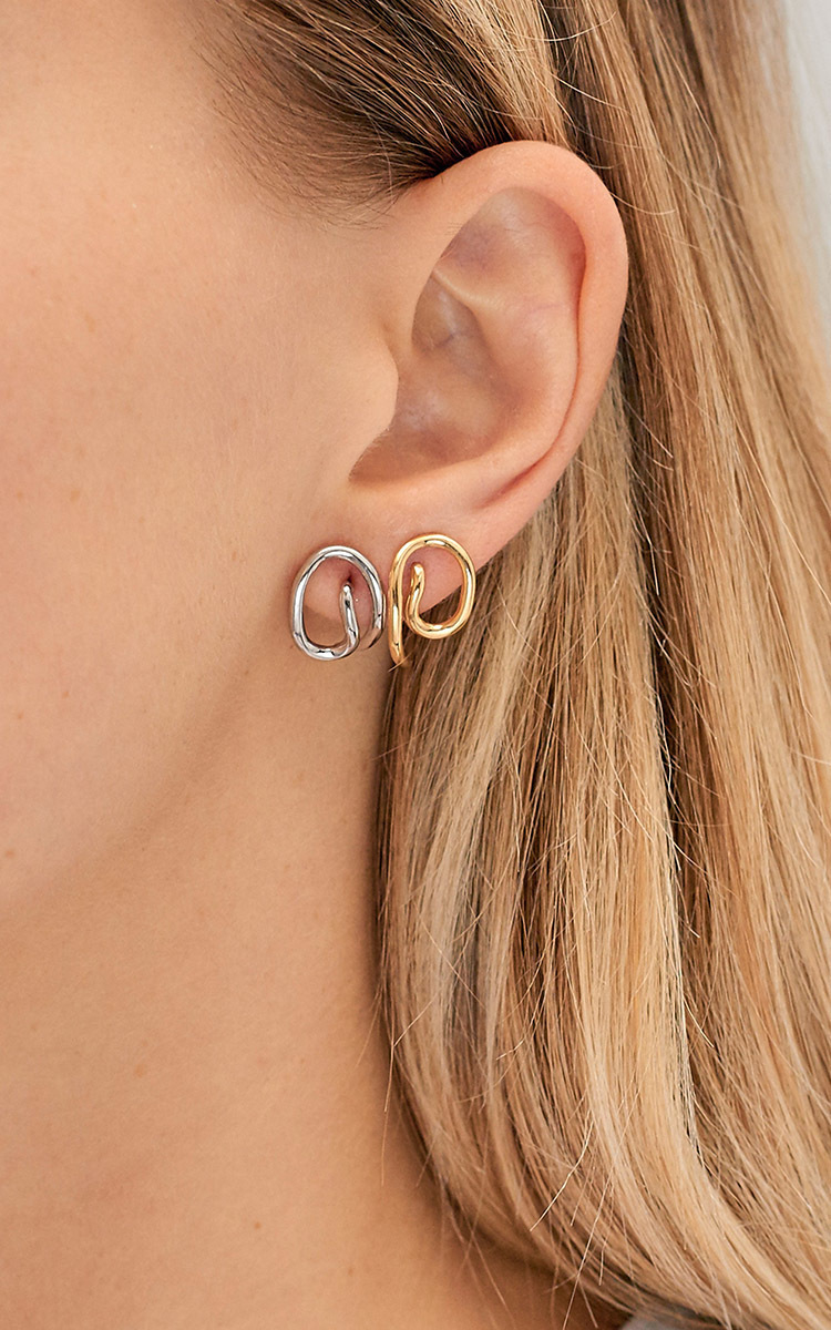charlotte trip gold porter round a pin net vermeil earrings chesnais