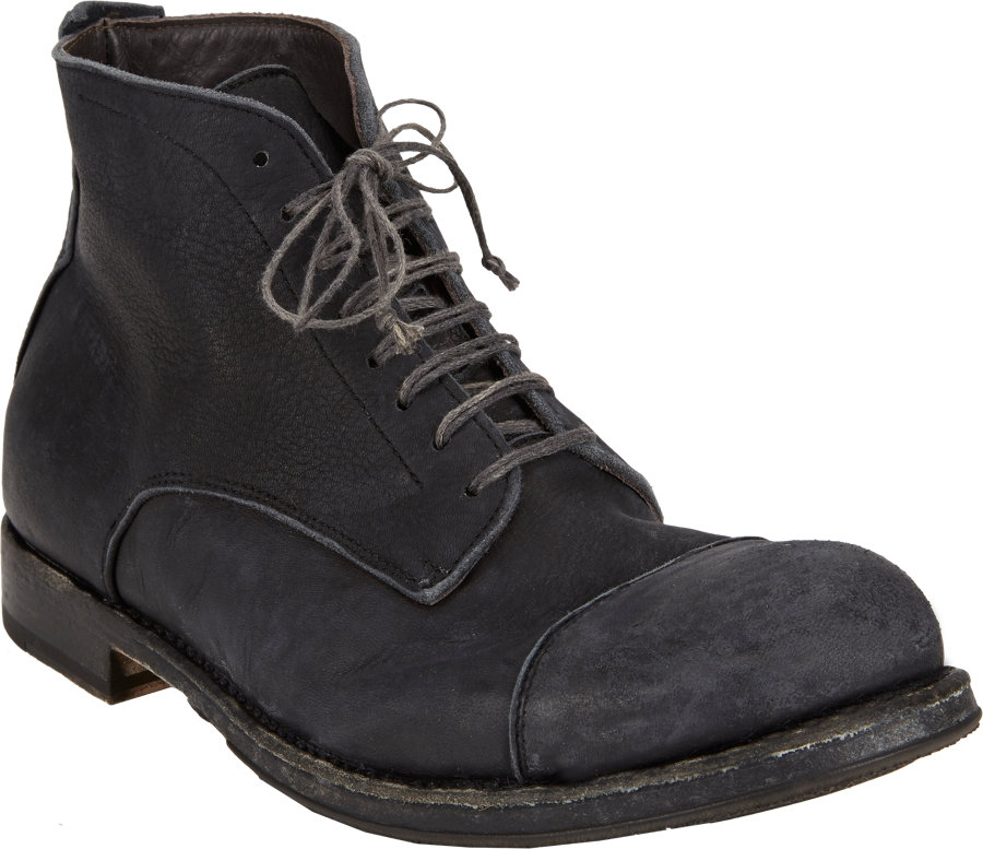 shoto washed captoe ankle boots in black for lyst