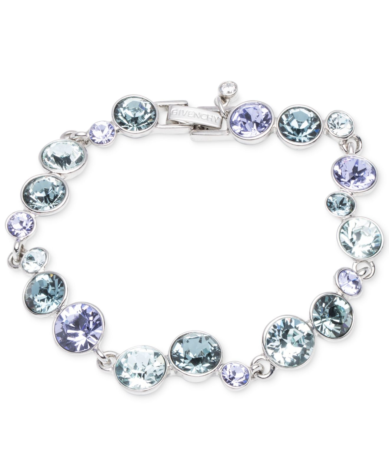 Lyst - Givenchy Silver-tone Blue Crystal Bracelet in Blue