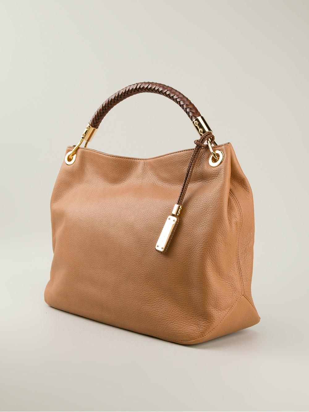 Lyst - Michael Kors Skorpios Large Shoulder Bag in Brown c7791ceb61cb4
