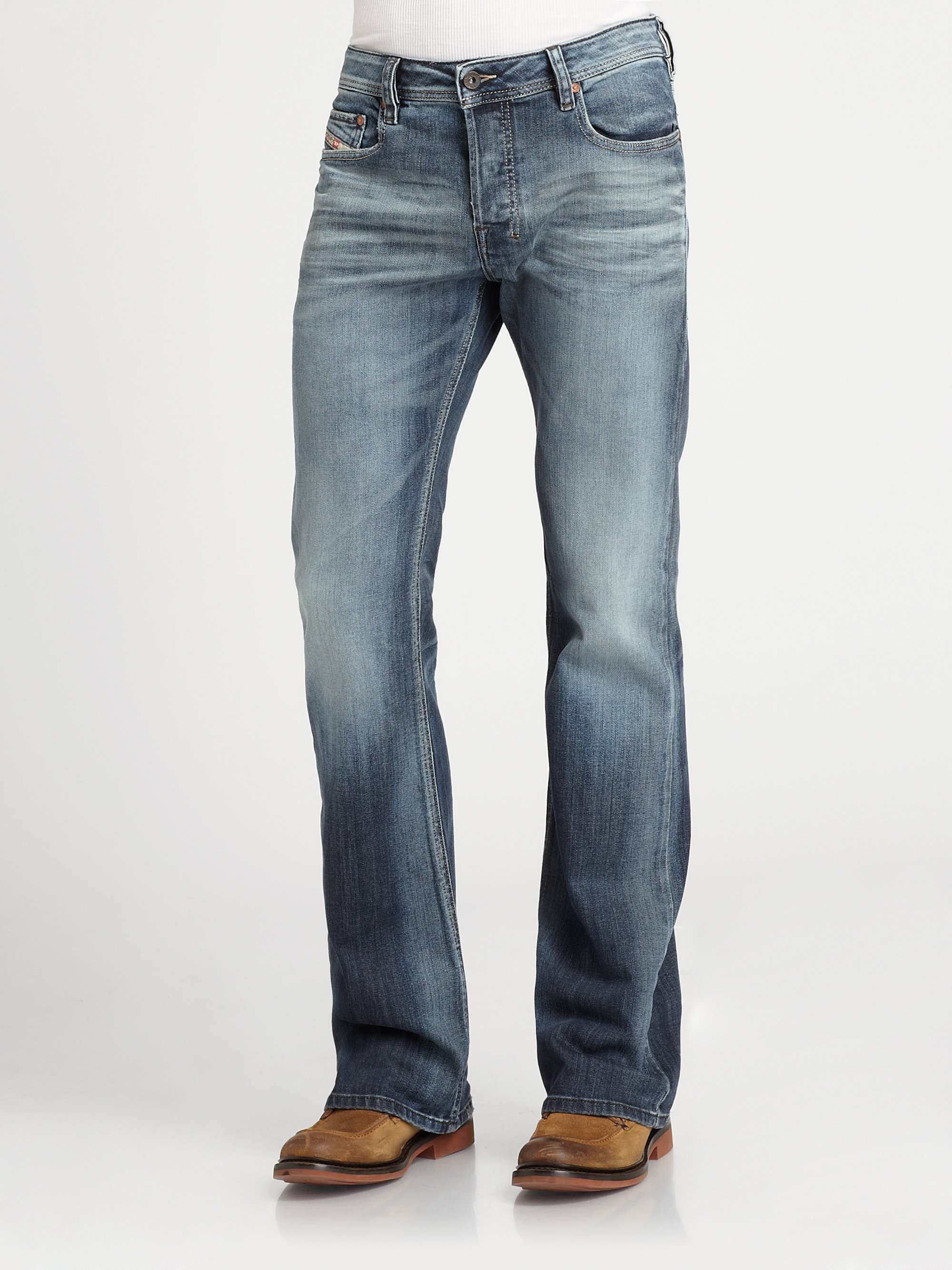 Lyst - Diesel Zathan Bootcut Jeans in Blue for Men