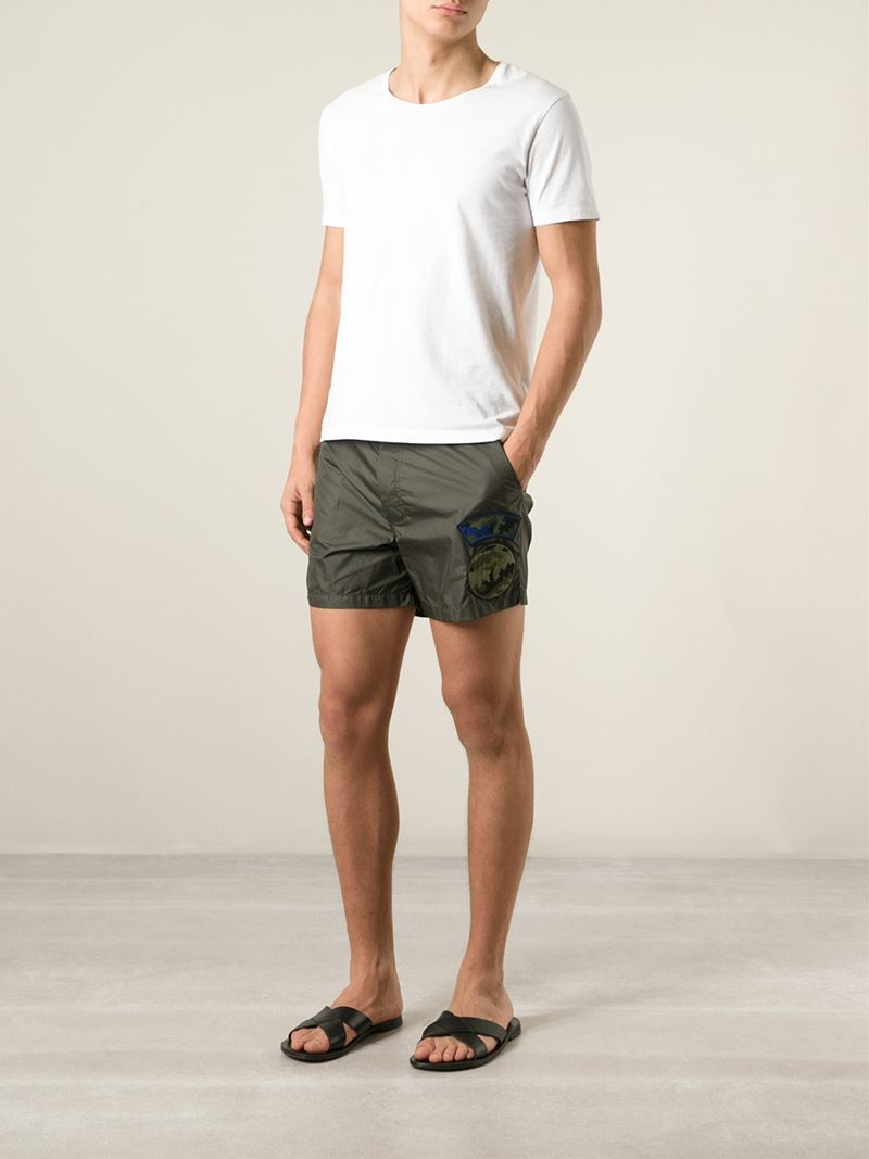patchwork shorts - Green Valentino