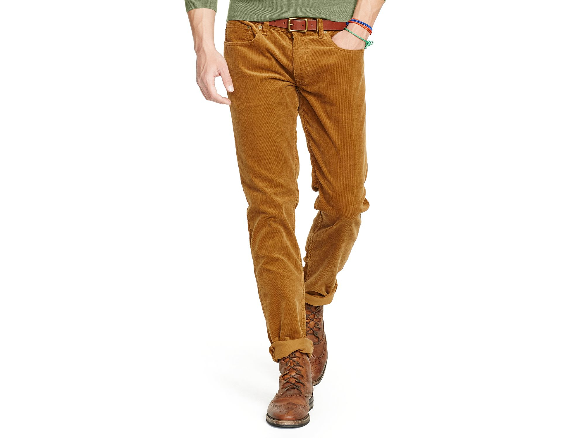 light brown corduroy pants - Pi Pants