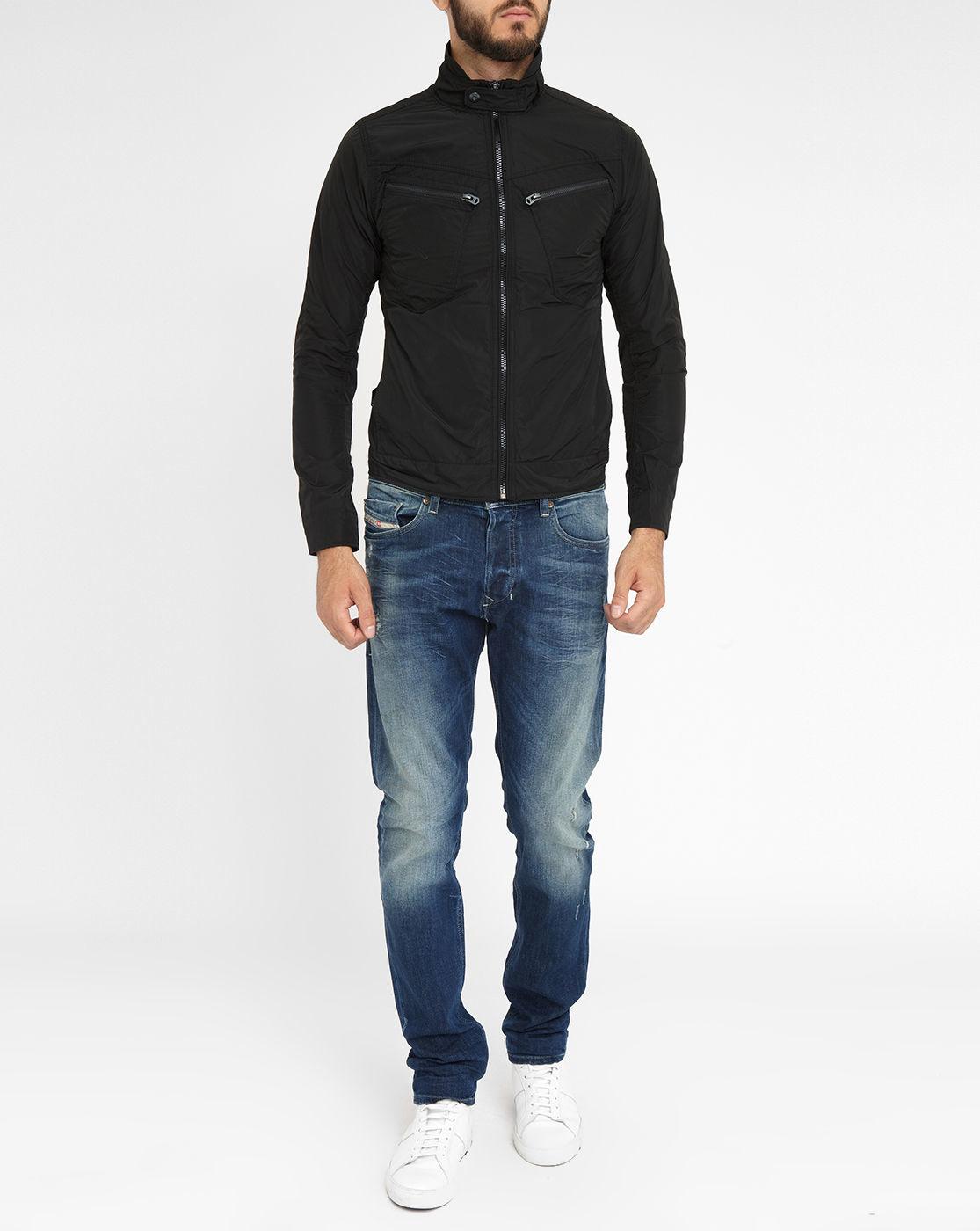 g star raw black arc zip 3d slim fit jacket in black for men lyst. Black Bedroom Furniture Sets. Home Design Ideas