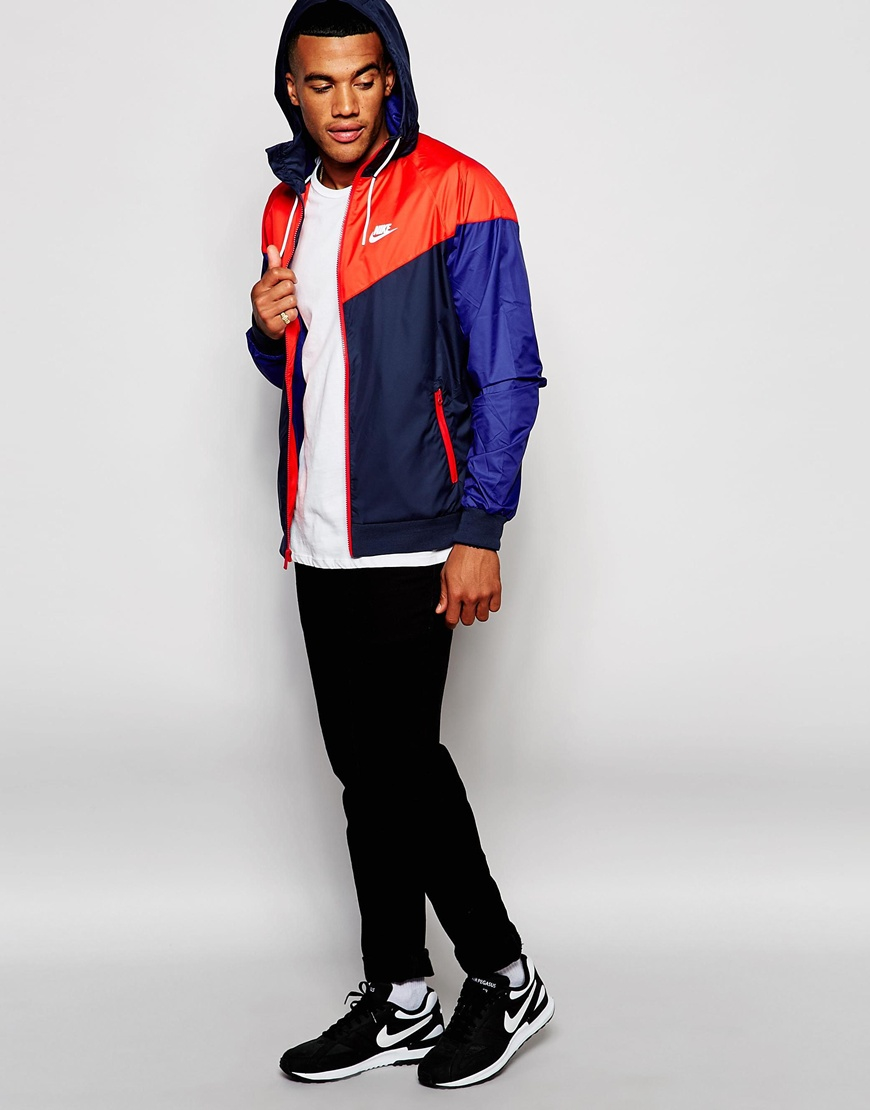 nike air jordan 1 mediados - Nike Wind Breaker Jacket 727324-452 in Blue for Men | Lyst