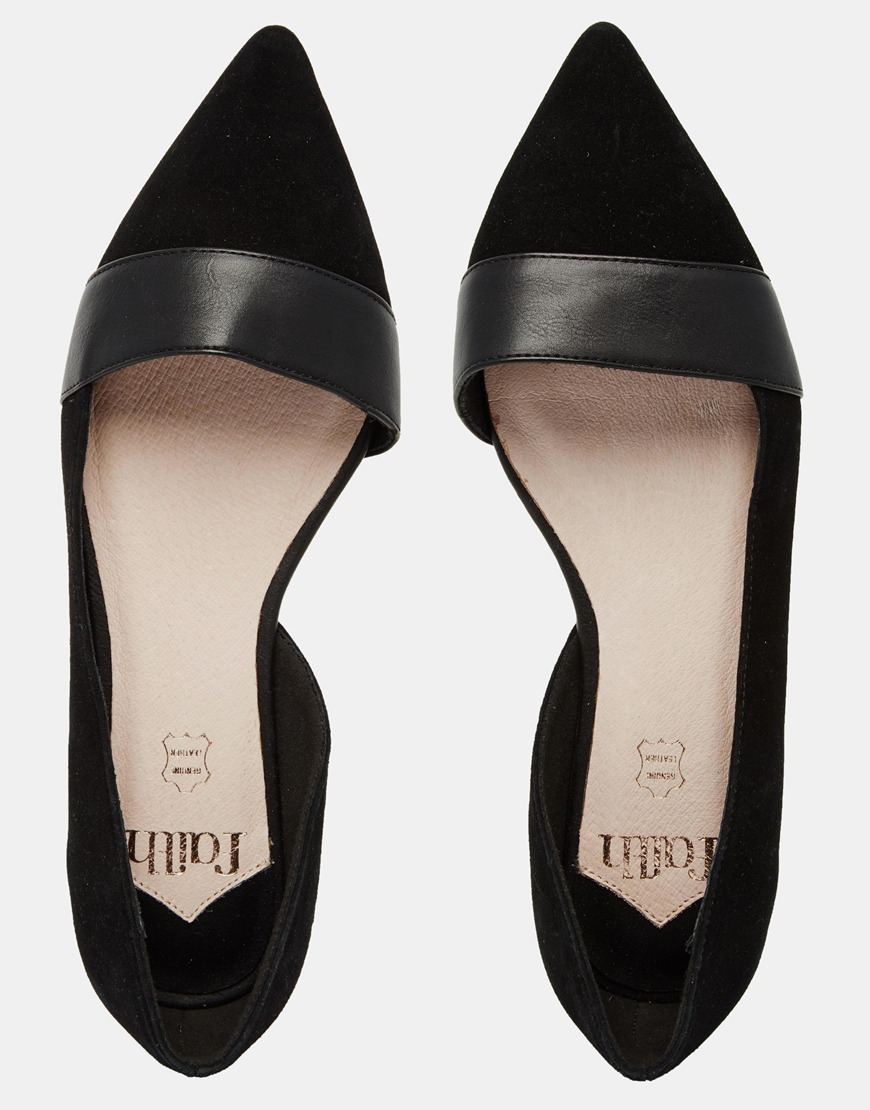 Black Patent Flat Pointy Shoes