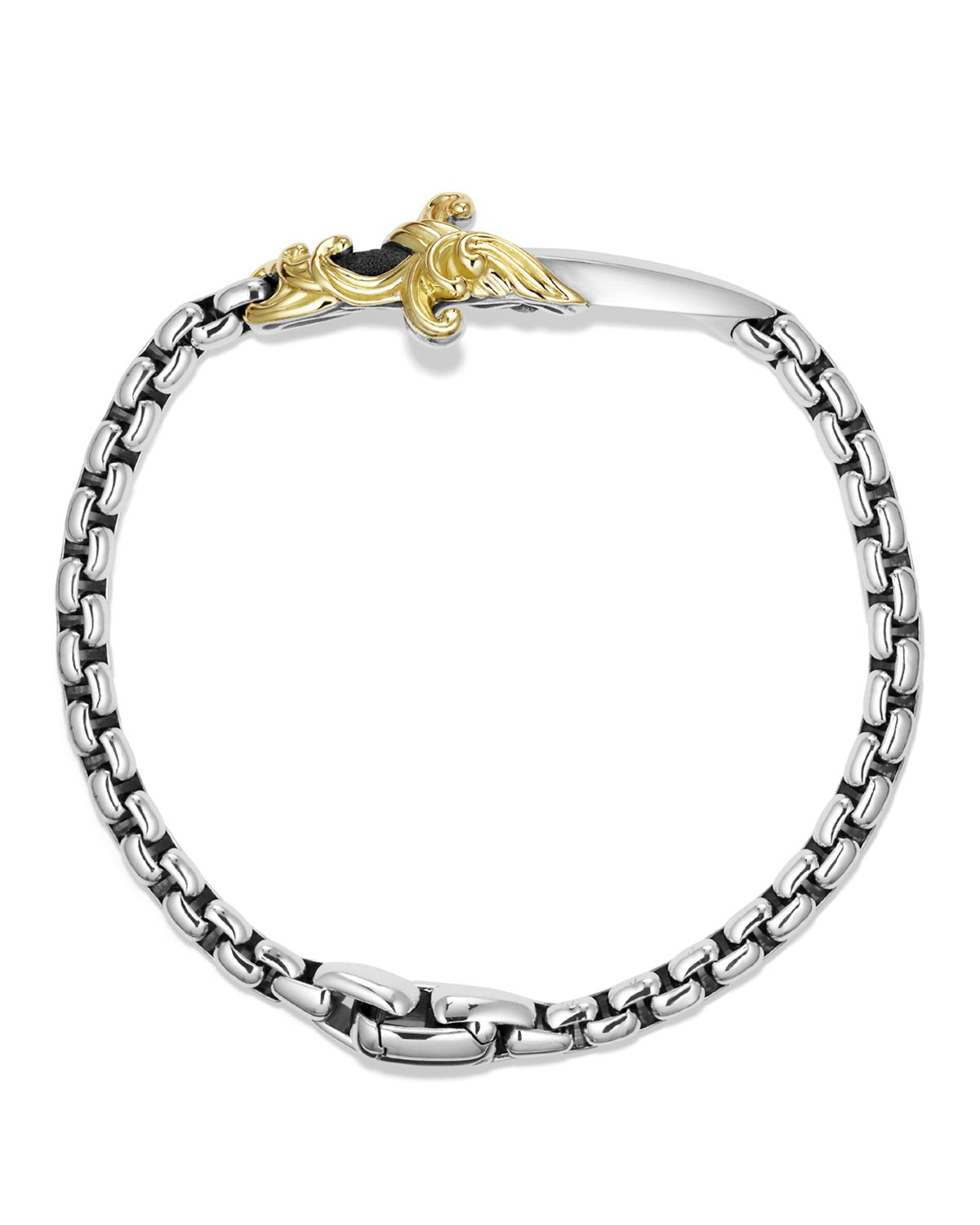 david yurman waves dagger bracelet with gold in metallic