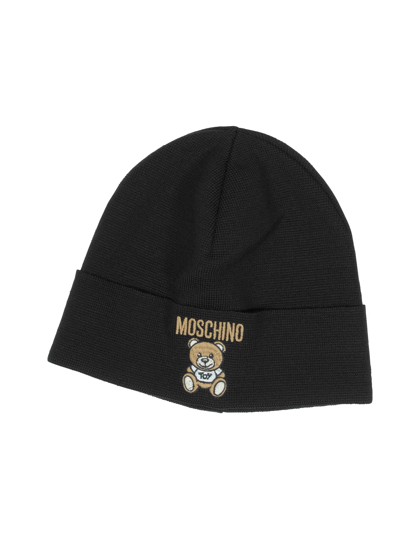 Lyst - Moschino Teddy Bear Wool Blend Hat in Black bc21b8a32f3