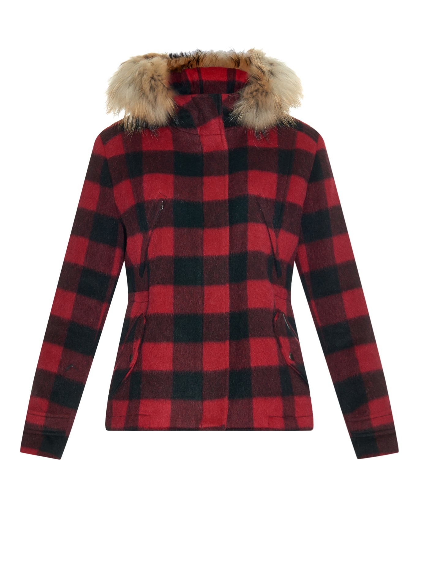 Lyst Woolrich Plaid Lumberjack Wool Jacket In Red