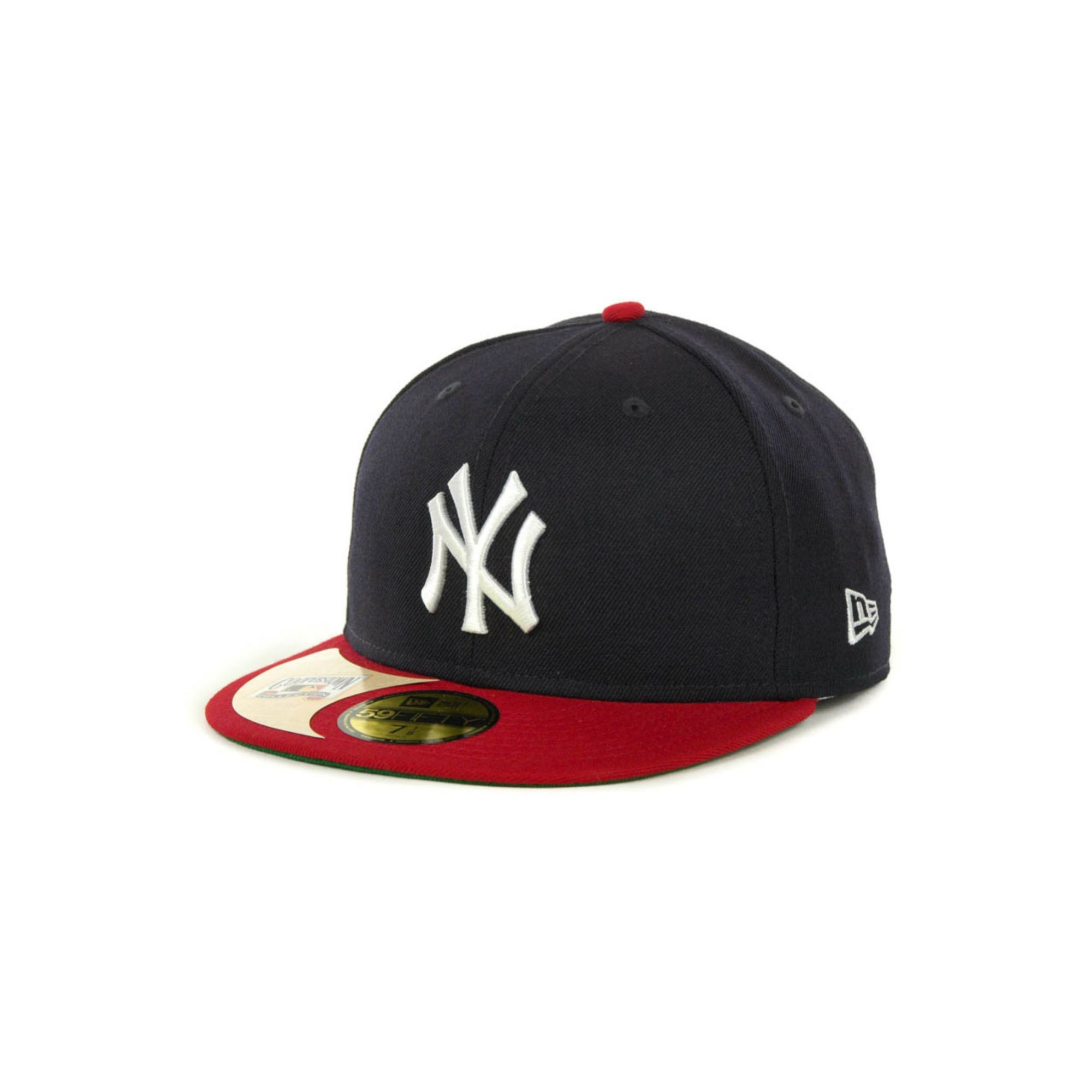 New york yankees new era mlb cooperstown patch 59fifty caps