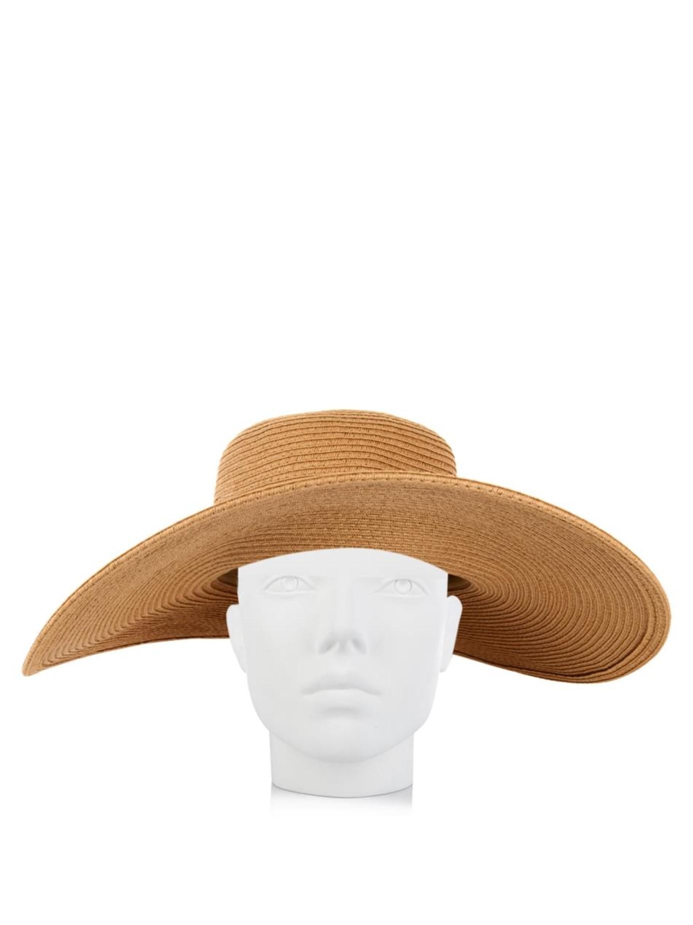 41f15963da8 Lyst - Melissa Odabash Raffia Sun Hat in Brown