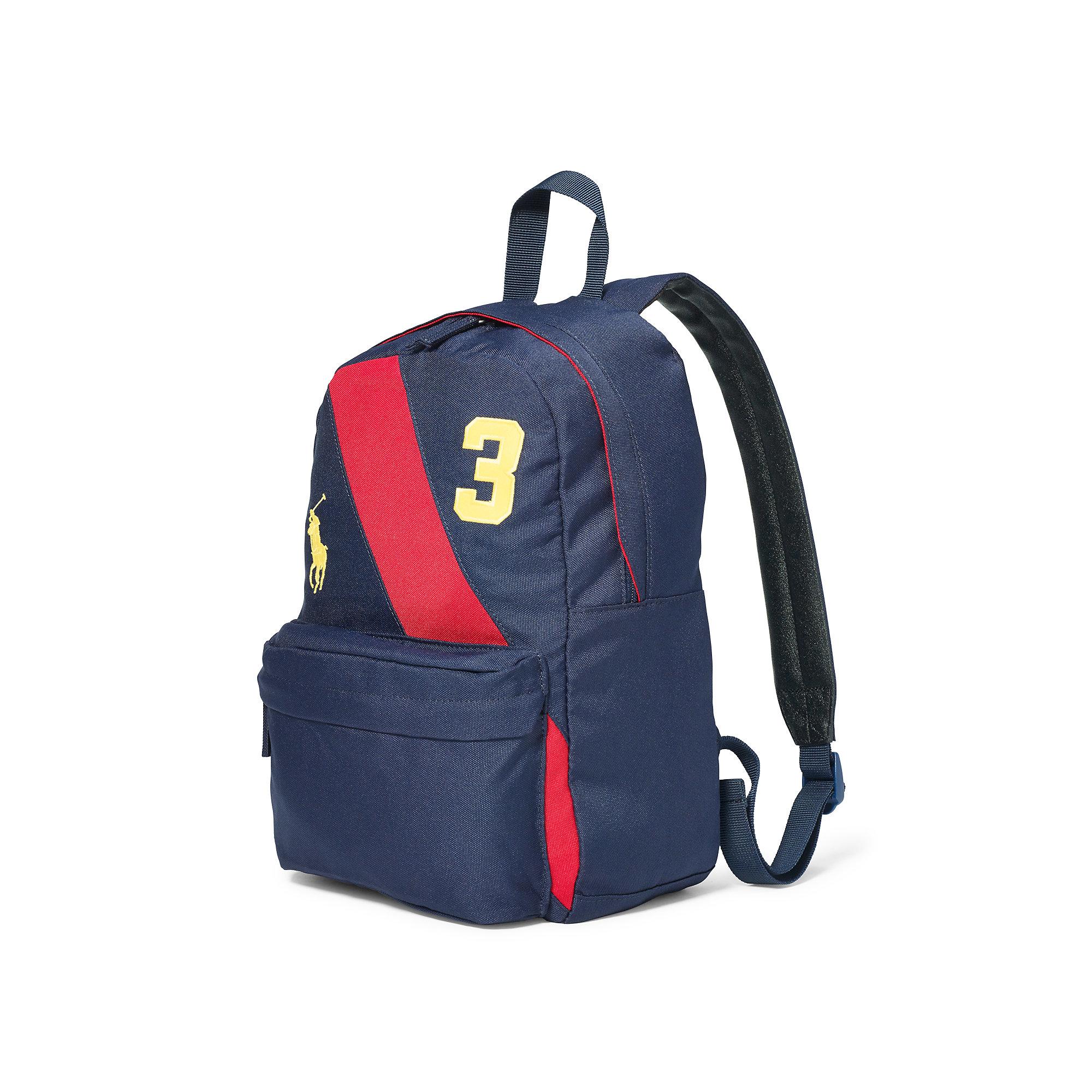 197fffa1a40 Lyst - Ralph Lauren Banner-striped Medium Backpack in Blue for Men