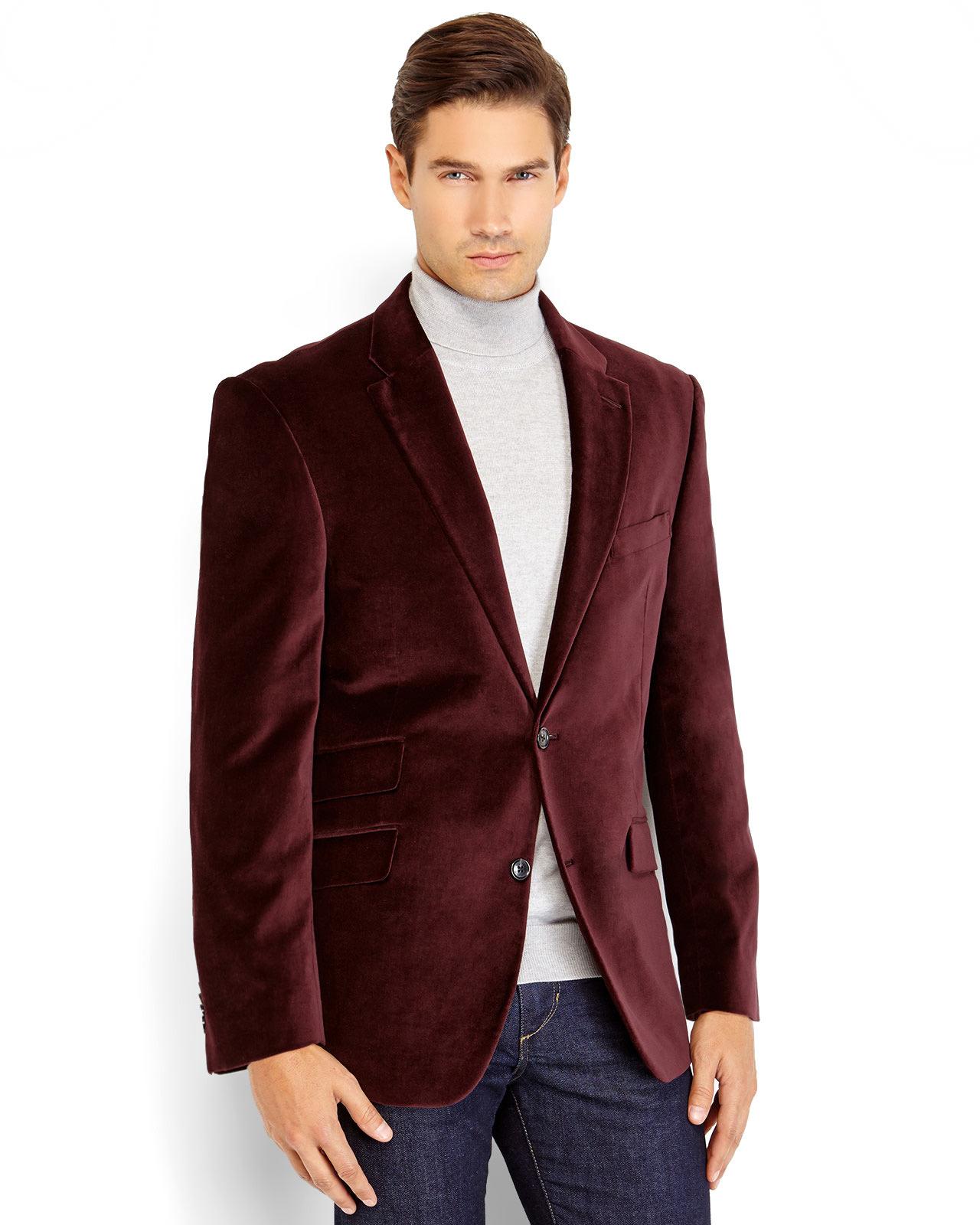 Tommy hilfiger Burgundy Dorsey Velvet Sport Coat in Purple for Men ...