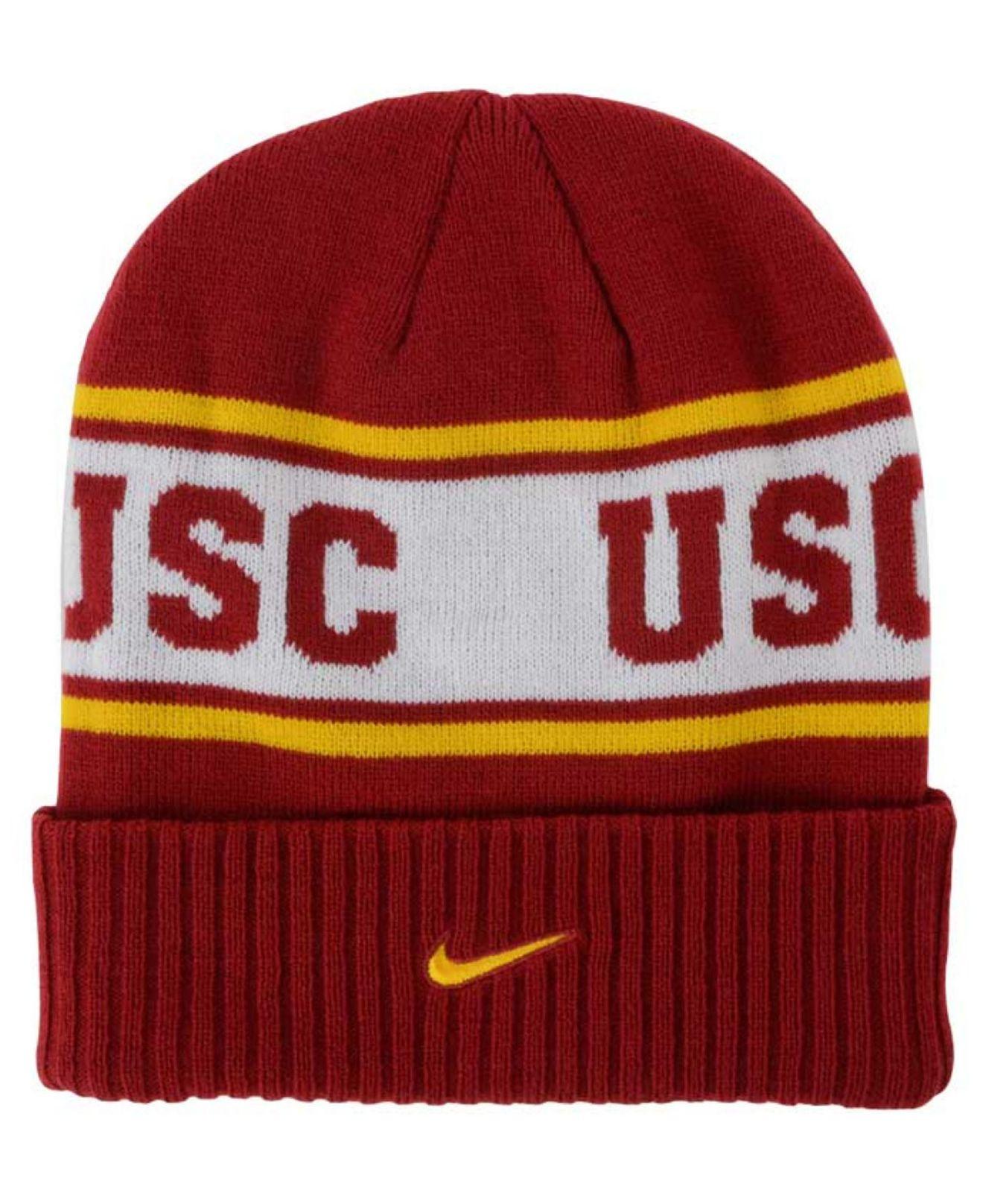 best loved 847e6 d5af6 ... new zealand lyst nike usc trojans sideline knit hat in red for men  cca83 59099 ...