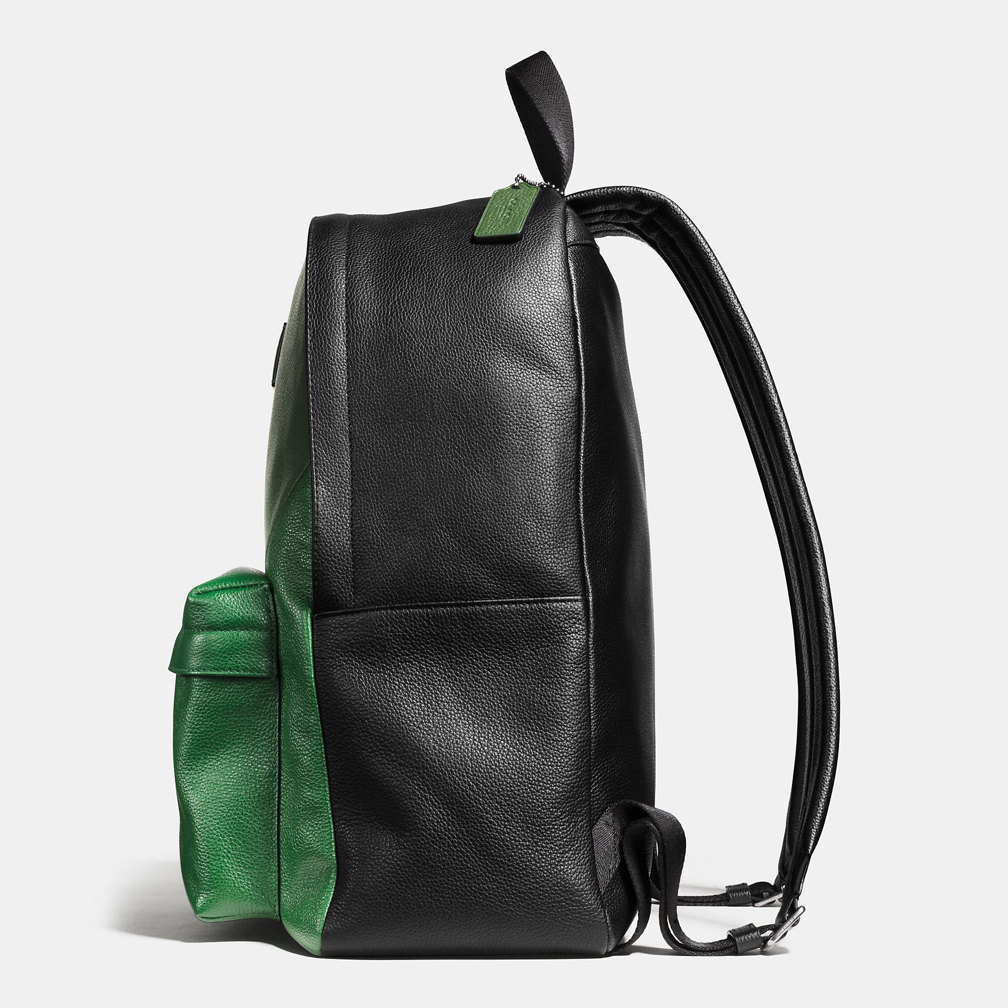ff8c0fefc921 ... authentic coach campus backpack in patchwork pebble leather in green for  men 10932 856e2